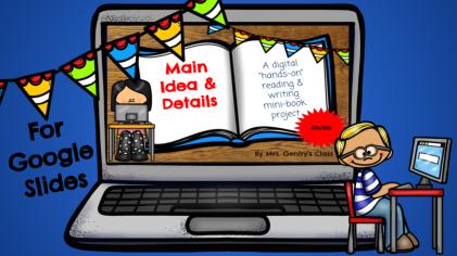 Main Idea & Details mini-book project cover & link - 4th5th