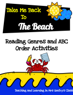 Take Me Back to The Beach Genres and ABC Order Activities